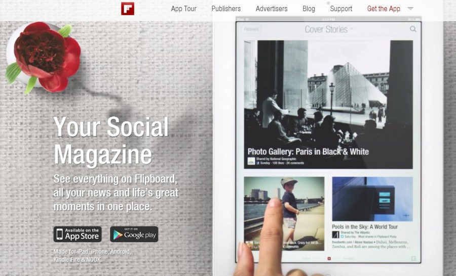 Flipboard: una aplicación cómoda de lectura web